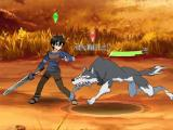 Kirito vs wolf in Sword Art Online: Memory Defrag