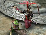 Dynasty Warriors: Unleashed intense boss fight