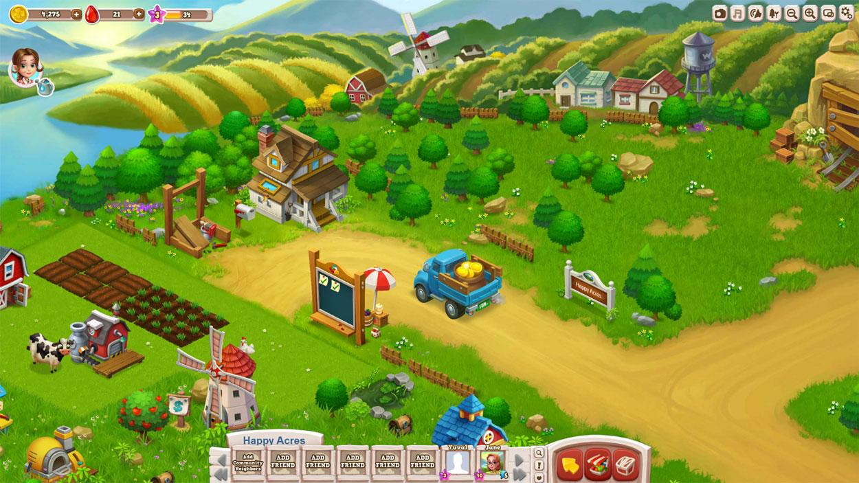 happy farm online game