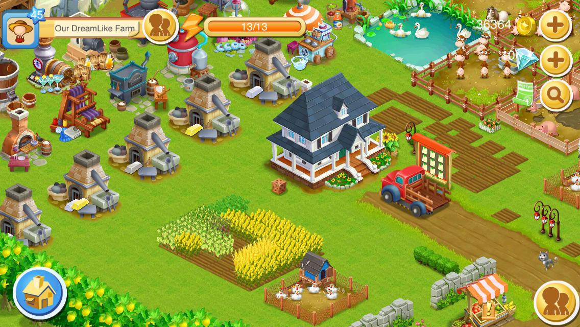 game happy farm