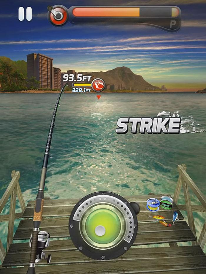 Ace fishing paradise blue free games guru for Free online fishing games
