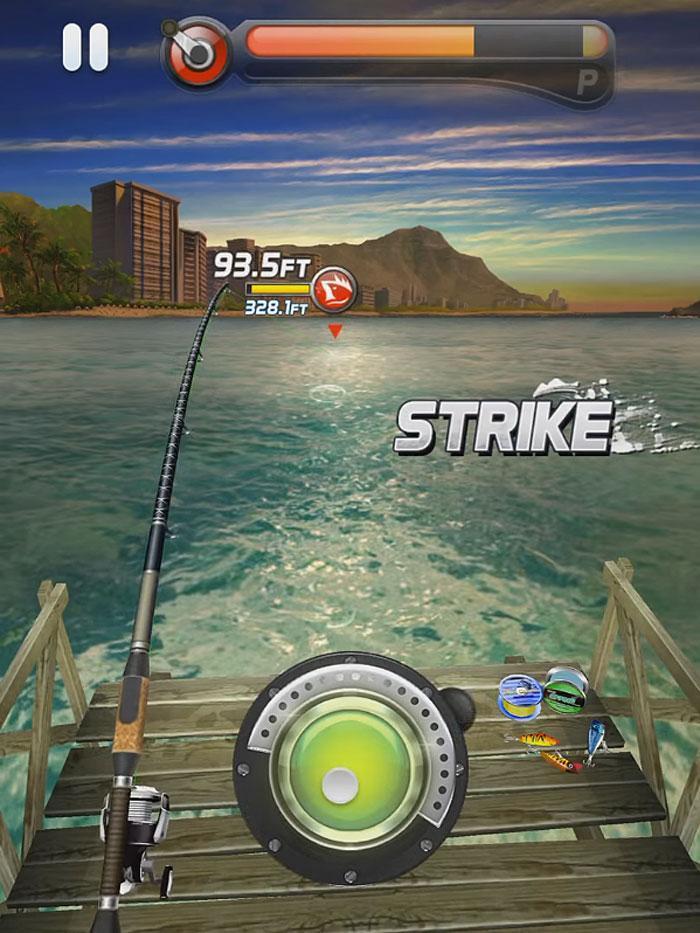 Ace fishing paradise blue free games guru for Real fishing games