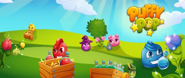 Puffy Pop - Enjoy a fun and cute match 3 game free on Facebook.