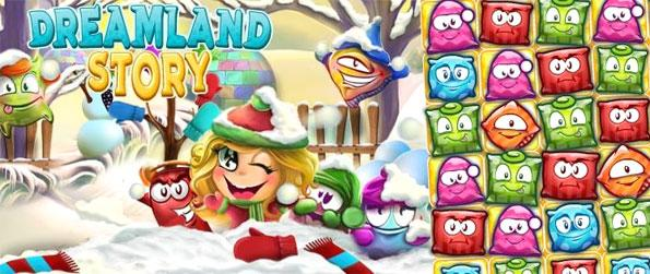 Dreamland Story - Prepare the pillows for sweat dreams in a fun new Match 3 Game with a unique collection style.