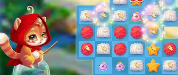 Dogs Vs Cats - Dogs vs Cats released by 6Waves, is an intuitive and engaging Match-3 puzzle game where players are tasked to combine at least three yarn balls of the same color.