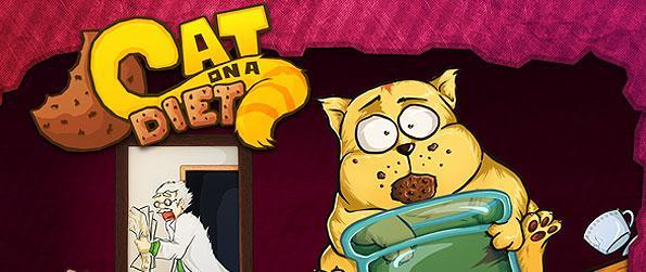Cat on a Diet - Help our glutton fat feline friend reach his jar of cookies in this amusing physics game.