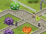 Queen's Garden Halloween in-game garden