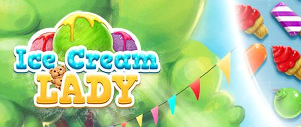 Ice Cream Lady - Collect ice cream and reach the required number of points to pass a level.
