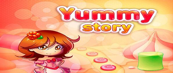 Yummy Story - A brimming new casual puzzle game in Facebook, to add to your collection of sweet-themed match-3 games out there!
