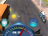 Moto Racer 3D riding across the countryside