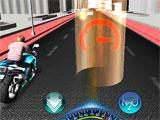 Moto Racer 3D getting close to a power-up