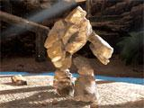 Fighting a golem in Downward