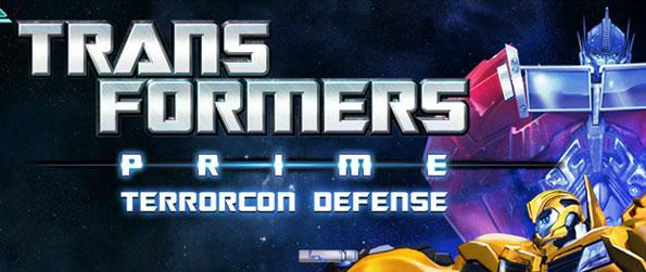 "Transformers Prime: Terrorcon Defense - Defend the world from the marauding hordes of Decepticons – in their efforts to get their hands on the valuable energy deposits ""Energon"" on Earth."
