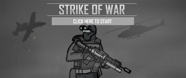 Strike of War - Go on thrilling missions to take out enemy agents in this 2D side-scrolling shooter, Strike of War!