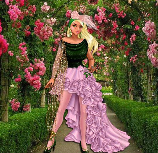Amazing Flowers Theme in Lady Popular