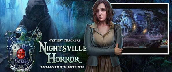 Mystery Trackers: Nightsville Horror - Save Oliver from a mad kidnapper in a stunning and creepy hidden object game.