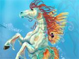 Hippocampus with fairy wings