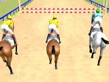 Jumping a hurdle in Horse Racing Derby Simulator 3D