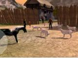 Performing a quest in Family Horse Simulator