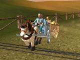 Hitting an obstacle in Horse Riding Cart 3D