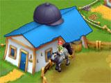Horse Farm: Riding a horse around the Round Pen