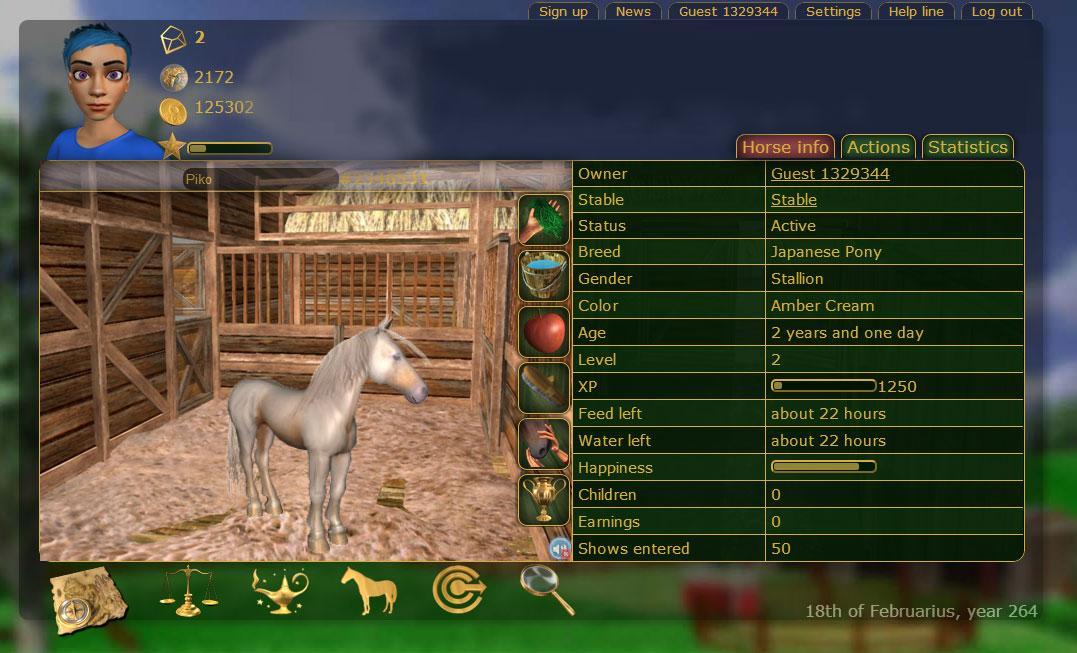 a virtual horse