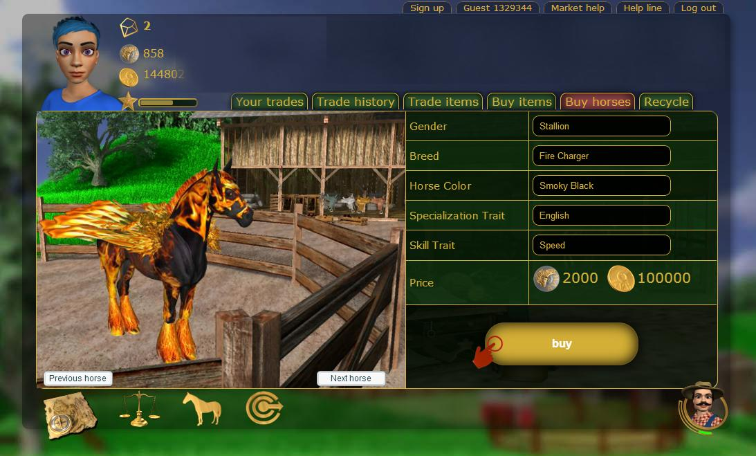 virtual horse