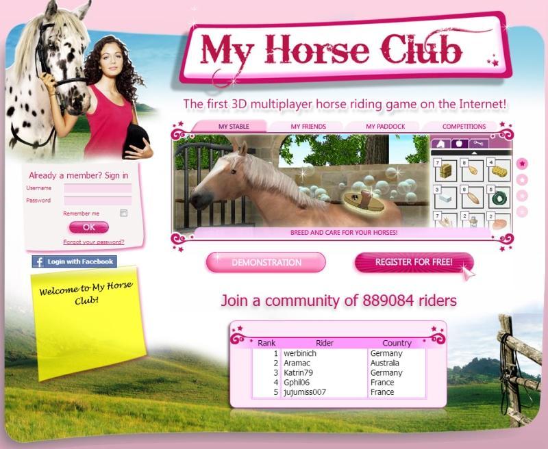 online horse games login