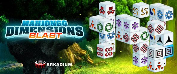 Mahjong Dimensions Blast - Rotate 3D puzzles to find matching tiles, and see how many puzzles you can complete before the time is up in this wonderful redition of the Mahjong game!