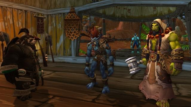 Playing World of Warcraft with friends