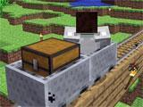 On the tracks in Minecraft