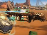 Battle between two sand cruisers in Sandstorm: Pirate Wars