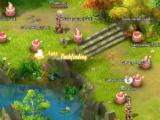 Surrounded by Porings in Ragnarok Journey