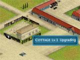 Evony Age II: Upgrading a cottage