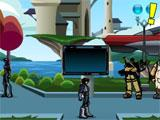 Wandering the streets in Soluna City in MechQuest