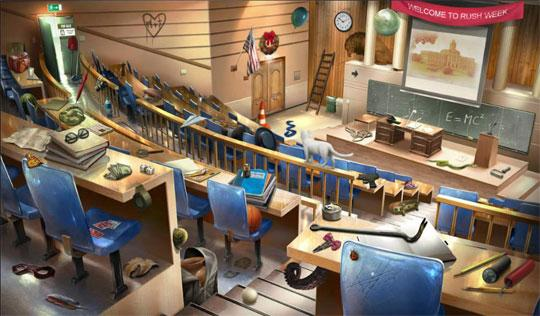 Messy Lecture Hall in Criminal Case
