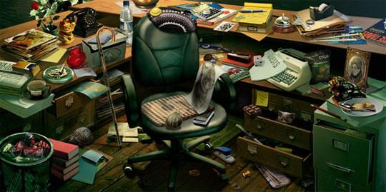 Messy Desk in Journals Of The Unknown