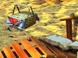 clues in the sand in Love Story: The Beach Cottage