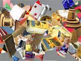 Clutter hidden object scene