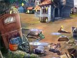 Golden Rain hidden object scene