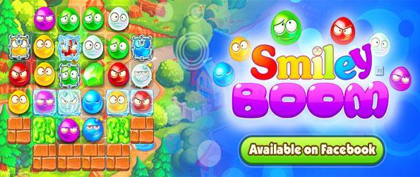 Smiley Boom - Match these cute smileys together in a new match 3 game on Facebook.