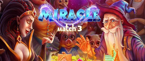 Miracle Match 3 - Enjoy a stunning game and save all of fairy tale land from the wicked witch.