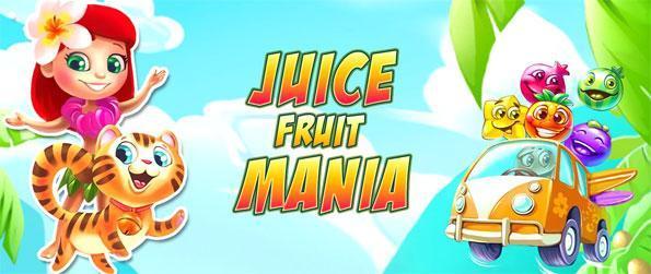 Juice Fruit Mania - Enjoy a fun match 3 game full of sweet treats.