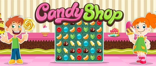Candy Shop - Enjoy a fantastic new sweet match 3 game free on Facebook.