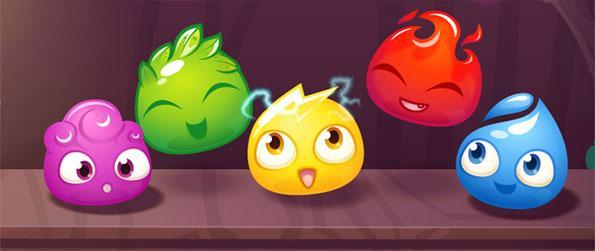 Magic Drops - Help the poor owl rebuild his lab with a fun match 3 swipe game free on Facebook.