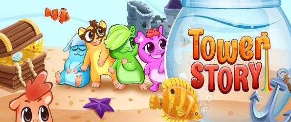Tower Story - Play this free hugely popular Facebook game and see if you can save the cute creatures.