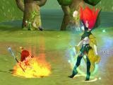 Fighting a giant monster in Celestia Luna Online