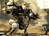 Fighting another mech in Hawken