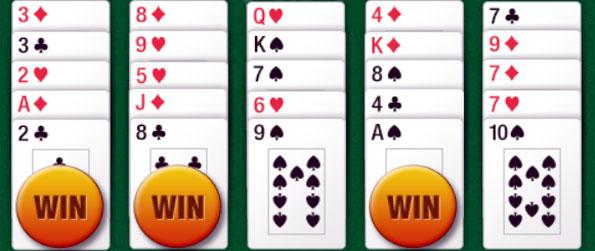 Five-0 Poker - Play 5 hands at once in this fun Poker Facebook Game.