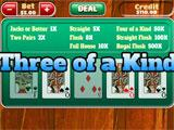 Video Poker Three of a Kind